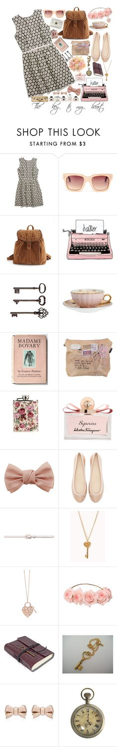"""The key to my heart.."" by tyabluue ❤ liked on Polyvore featuring Madewell, Linda Farrow, Charlotte Russe, Retrò, Ballard Designs, MOR Cosmetics, Salvatore Ferragamo, Dorothy Perkins, Zara and Forever New"
