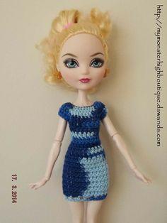 http://mymonsterhighboutique.dawanda.com Vestido para Ever after high E9 de My Monster High boutique por DaWanda.com