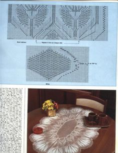 Free Crochet Doily Patterns, Crochet Chart, Lace Patterns, Filet Crochet, Crochet Motif, Crochet Doilies, Knit Crochet, Lace Knitting, Knitting Stitches