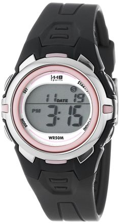 #Cheap #Watch , Timex Women's T5K6839J 1440 Sports Digital Mid-Size Gray and Pink Resin Watch...$14.88