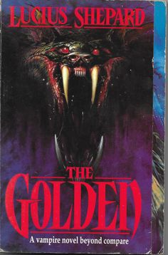 'The Golden' by Lucius Shepard.  Art by Melvyn Grant.  This edition published by Millennium, The Orion Publishing Group, London, 1994.