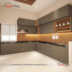 Discover recipes, home ideas, style inspiration and other ideas to try. Simple Kitchen Cabinets, Kitchen Cupboard Designs, Kitchen Room Design, Modern Kitchen Design, Interior Design Kitchen, Interior Modern, Interior Simple, Modern Kitchen Interiors, L Shaped Kitchen Interior