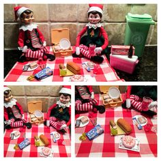 Elf on the Shelf Ideas. Elf picnic. To view more pins like this one, search for Pinterest user amywelsh18.