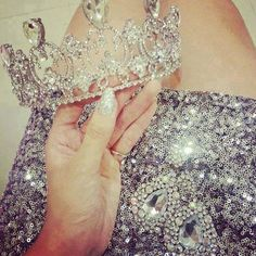 My Tiara - A must for all girly girls! Glitter Make Up, Moda Chic, Amber Rose, Sweet 15, Tiaras And Crowns, Pageant Crowns, Diamond Are A Girls Best Friend, Marilyn Monroe, Girly Things