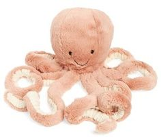 Infant Jellycat Odell Octopus Stuffed Animal. It might seem too expensive for a stuffed animal, but it's so worth it. Jellycat is the best because they are SO. FREAKING. SOFT. Like, I would probably cuddle with this thing if it didn't already belong to my baby. #Affiliate
