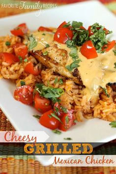 Cheesy Grilled Mexican Chicken from FavFamilyRecipes.com