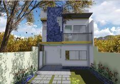 Casa de dos planta y tres dormitorios Small Apartments, Garage Doors, 1, Mansions, House Styles, Outdoor Decor, Pictures, Home Decor, Ideas Decoración