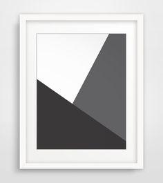 Geometric Art Minimalist Home Decor by MelindaWoodDesigns on Etsy #Geometricart #blackprints