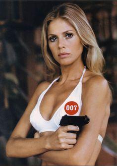 "Bond girl Britt Ekland as 'Mary Goodnight' in ""The Man with the Golden Gun,"" 1974"