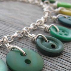 bracelet of buttons...wire wrap them instead of rings...smart @Shelley Parker Herke Culbertson