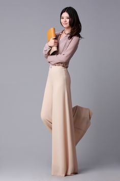 Wide legs- Autumn fashion and Dress pants on Pinterest
