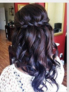 Braided curly hair