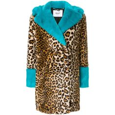 Blugirl leopard print coat ($736) ❤ liked on Polyvore featuring outerwear, coats, brown, blugirl, leopard coat, brown coat and leopard print coats