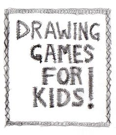 drawing game ideas for kids from Artchoo.com..especially like the one where kids draw  a picture and have to explain it to their friend without showing it to them.