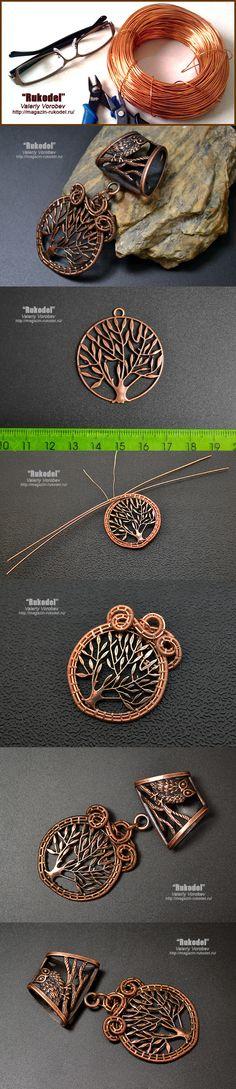 Decoration Scarf. Wire Wrap Pendant