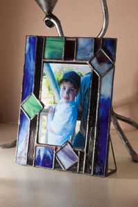 Creative Company | Classy Glass Art: Photo frame with stand