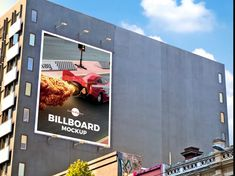 Free Outdoor Building Wall Advertisement Billboard Mockup Psd by Free Mockup Zone Billboard Mockup, Billboard Design, Outdoor Buildings, Style Tile, Advertising Design, Outdoor Walls, Multimedia Arts, Campaign Ideas, Brand Campaign