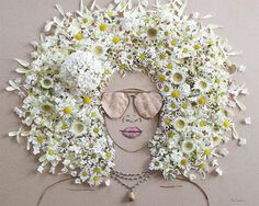 drawing hair ideas Print of original flower portrait by Vicki Rawlins Read Vicki's Flower Art Statement Hi-resolution print on premium quality archive paper with a matte finish Because of the quality of the original - Sister Golden Art Floral, 3d Drawings, Drawings Of Flowers, Art Club, Art Plastique, Flower Prints, Flower Artwork, Mother Nature, Original Art