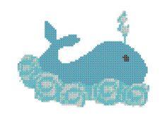 Super Cute Wally the #Whale #CrossStitch #Pattern.