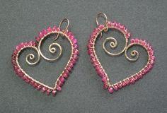 handmade-earrings.net - Luxe Bijoux Hearts Wrapped with Ruby Handcrafted Earrings, $101.95 (http://www.handmade-earrings.net/Luxe-Bijoux-Hearts-Wrapped-with-Ruby-Handcrafted-Earrings)