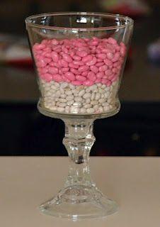 Spray-paint beans for a vase filler.