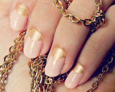 Pink and Gold mani how to: On a Whimsy