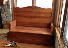 Antique Bed Frame Bench with Storage