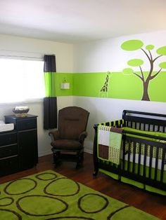 Brown and green boy nursery