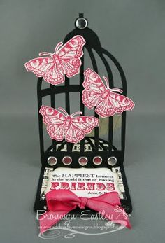Bird Cage Easel Card by BronJ - Cards and Paper Crafts at Splitcoaststampers
