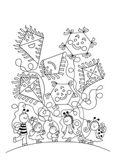 Cikkek - Bogyó és Babóca foglalkoztató - 12 új mesével Colouring Pages, Coloring Sheets, Diy And Crafts, Crafts For Kids, Clip Art, Make It Yourself, Halloween, Drawings, School
