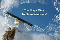Quickly clean Windows using water, finish rinse aid, and dishwashing detergent.