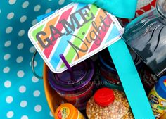 Raising up Rubies: game night! ... in a bucket ♥ Great gift idea! #familygamenight #giftsforfamilies #giftsforcouples
