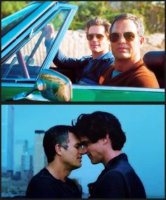 Matt Bomer and Mark Ruffalo in The Normal Heart