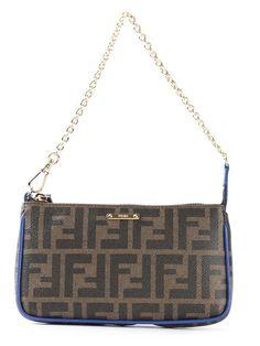 FENDI Small Ff Logo Shoulder Bag. #fendi #bags #shoulder bags #hand bags #leather #lining