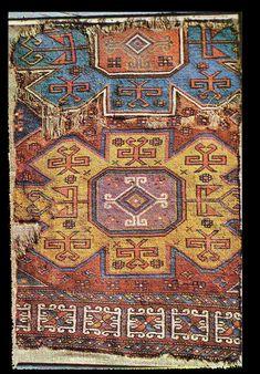 OTTOMAN CARPETS IN THE XVI - XVII CENTURIES (16-17TH CENTURIES)  XVI-XVII century Bergama village carpet fragment, Türk ve Islam Eserleri Müzesi, Istanbul