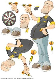 180!!....This darts Dude is on tip top form. Decoupage sheet with loads of options to create your own Dude designs. More versions of this Dude are available. Don't forget to check out my other original Dudes and designs. Just click on my name. Thanks for looking!