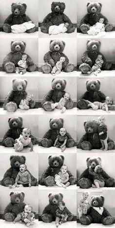 Marking milestones with Hoe leg jij de teddy bear collage. Hoe leg jij de #groei  van je #baby vast?