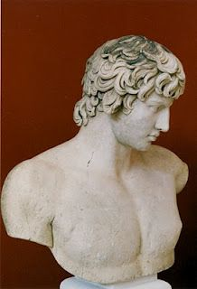 In his later years, Hadrian fell in love with a young man, Antinous. When the young man died, Hadrian promoted his cult. Antinous soon became depicted in statuary as a god, often equated with Bacchus.