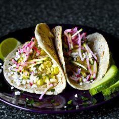 Charred Corn Tacos With Zucchini-radish Slaw (via www.foodily.com/r/3G2kX5aRc)