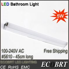 Find More Industrial Lighting Information about 2015 promotion lamp modern stainless steel led Bar wall light as indoor bathroom mirror sconces lamps 45cm CE free shipping ,High Quality lamp front,China light bulb touch lamp Suppliers, Cheap light oil lamp from Shenzhen ECOBRT Trade Co., Ltd on Aliexpress.com