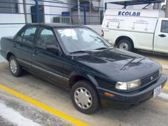 My fourth vehicle was similar to this but dark green (black forest). 1994 Nissan Sentra Limited Edition.
