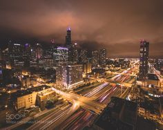 IMG_5216.jpg - Pinned by Mak Khalaf City and Architecture Chicagoarchitecturecitycityscapecloudslong exposurenightskyline by BrianWillette