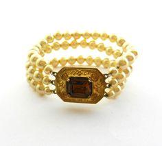 1940s Italian simulated pearl bracelet/cuff   by RAKcreations