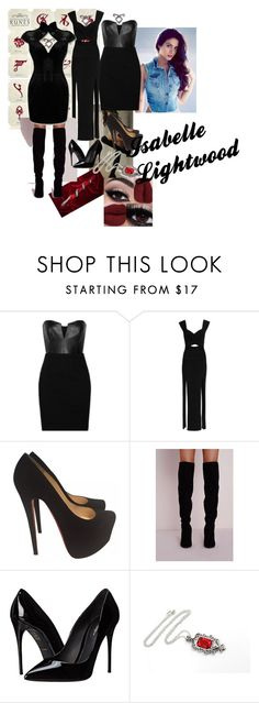 """""""Isabelle Lightwood"""" by luhcarolina ❤ liked on Polyvore featuring Mason by Michelle Mason, Emilio Pucci, Christian Louboutin and Dolce&Gabbana"""