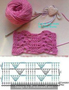 crochet patterns for landscape yarn - landscape yarn crochet patterns . crochet patterns for landscape yarn . Crochet Motifs, Crochet Diagram, Crochet Stitches Patterns, Crochet Chart, Filet Crochet, Crochet Designs, Easy Crochet, Knitting Patterns, Knit Crochet