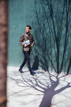 Matthew Zorpas interprets Fay's iconic Down Jacket through the streets of NYC for the Double Life Project.