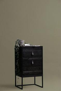 Zola ll Night Stand WOOOD • WOO .Design Walnut Dresser, Oak Dresser, Brown Nightstands, Brass Side Table, Antique Brass, Drawers, Night Stand, Antiques, Bedroom