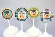 Smart Cookie Graduation Printable Cupcake Wrappers, cute for the last day of school or a Smart Cookie Graduation party!