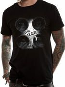 Officially licensed The Clash t-shirt design printed on a Black 100% cotton short sleeved T-shirt.