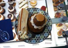 Gluten free salted caramel eclair + chocolate profiterole 'cake' from Helmut Newcake   Paris